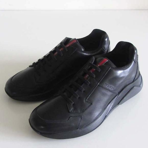 Prada Shoes | Prada Black Logo Stripe